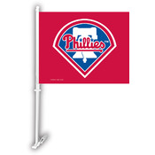 Philadelphia Phillies Car Flag w/Wall Bracket