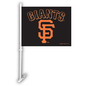 San Francisco Giants Car Flag w/Wall Bracket