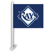 Tampa Bay Rays Car Flag w/Wall Bracket