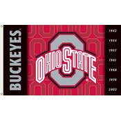 Ohio State Buckeyes-2-Sided 3 Ft. X 5 Ft. Flag W/Grommets