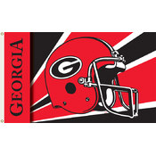 Georgia Bulldogs-3 Ft. X 5 Ft. Flag W/Grommets - Helmet Design