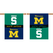 "Michigan - Michigan St.-2-Sided 28"" X 40"" Banner W/ Pole Sleeve House Divided"