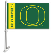 Oregon Ducks-Car Flag W/Wall Brackett