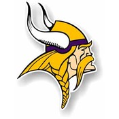 "Minnesota Vikings - 12"" Vinyl Car Magnets"