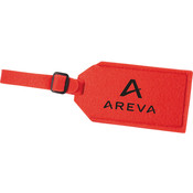 The Jubilee Felt Luggage Tag in Red Wholesale Bulk
