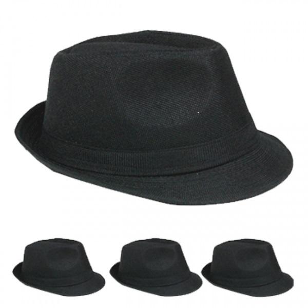 Black Casual Fedora Hat [1877077]