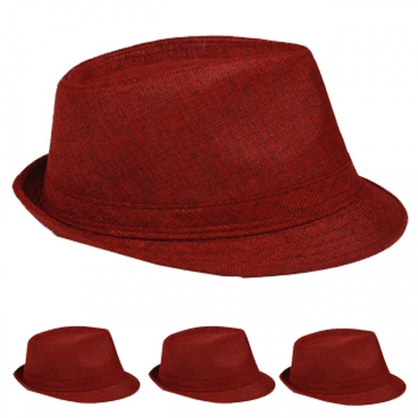 Red Casual Fedora Hat [1876979]