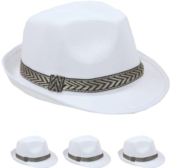 White Mesh Fedora Hat [1917128]