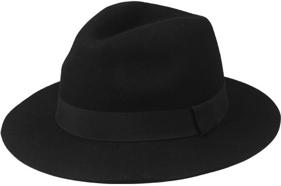 Women Ribbon Wide Brim Wool Hat [1935610]