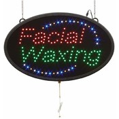 FACIAL WAXING Programmed Oval LED Sign