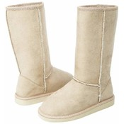 12pc Ladies' Beige Microsuede Mid-Calf Boot Set