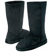 12pc Ladies' Black Microsuede Mid-Calf Boot Set