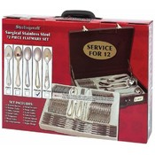 Sterlingcraft 72  Piece Gold Trim Flatware Set