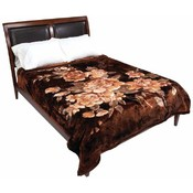 Wyndham House Luxury Blanket - Brown Flowers Wholesale Bulk