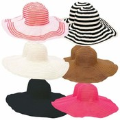 12pc Assorted Ladies' Floppy Sun Hat Set