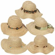 10pc Assorted Ladies' Floppy Sun Hat Set