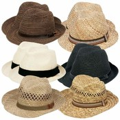 Casual Outfitters 12pc Assorted Men's Straw Dress Hat Set Wholesale Bulk