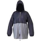 All-Weather Blue/Gray Rain Jacket with Pouch M/L