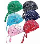 6pc Assorted Paisley Cotton Skull Cap Set