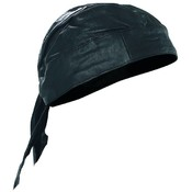 Solid Genuine Leather Skull Cap
