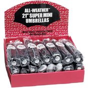 All-Weather 24 Piece Set of Black Umbrellas