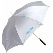 "All-Weather 48"" Silver Super Cool Auto Umbrella"
