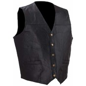 Mens Rock Design Genuine Leather Vest- Large