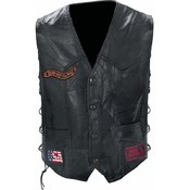 Genuine Buffalo Leather Biker Vest