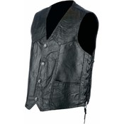 Rocky Ranch Hides Mens Genuine Hog Leather Biker Vest- Medium Wholesale Bulk