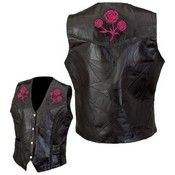 Ladies' Genuine Buffalo Leather Vest- Large