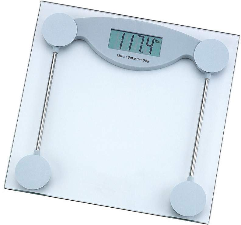 HealthSmart Glass ELECTRONIC Bathroom Scale #3ELA [704017]
