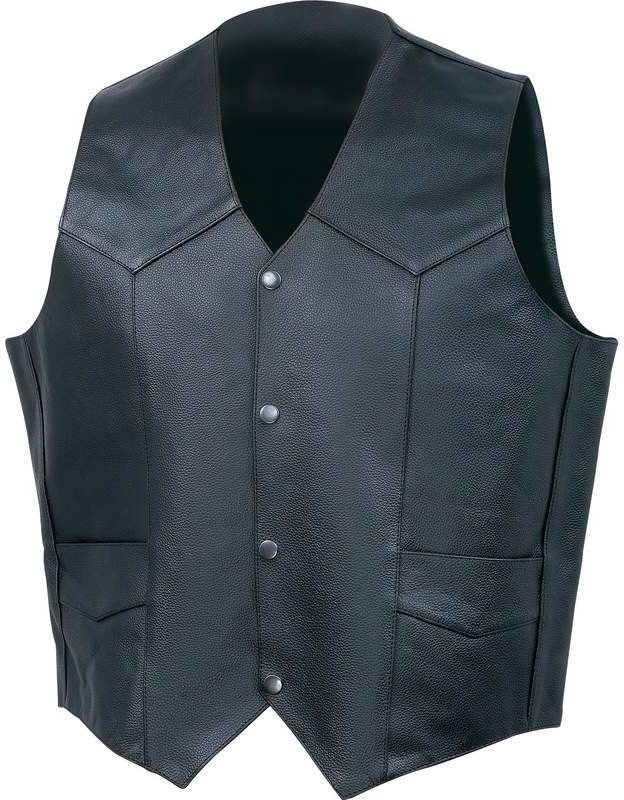 Rocky Mountain Hides Solid Genuine Buffalo LEATHER VEST - 2X #X2BLSVFG [1993438]