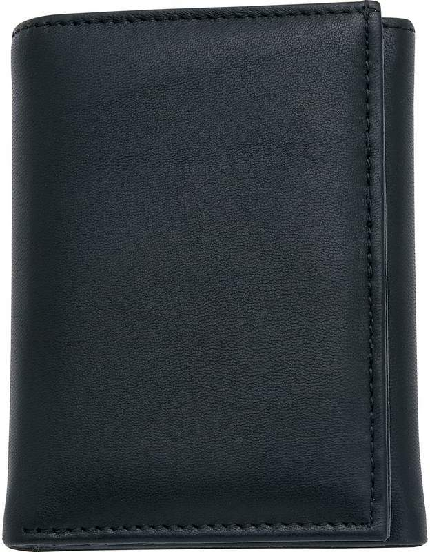 Embassy? Men's Solid Genuine LEATHER Tri-Fold Wallet [704521]