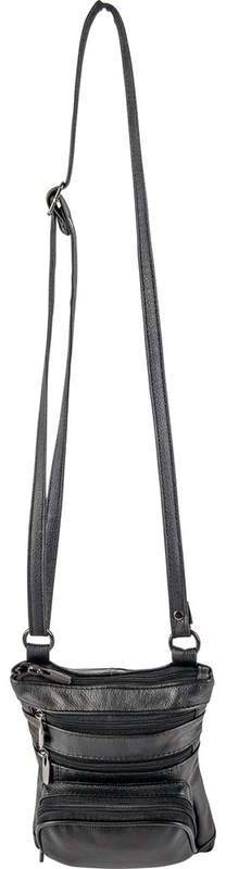 Casual Outfitters? Black Ladies Solid Leather Small SHOULDER BAG [2169155]