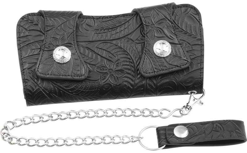 Casual Outfitters Solid Genuine Leather CHAIN WALLET [1993754]