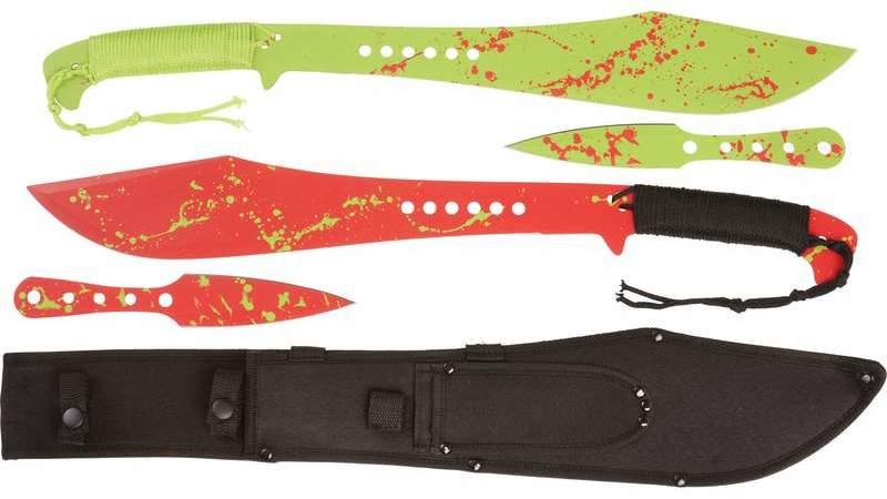 Rampant 5 piece Machete/THROWING KNIFE Set [1993900]