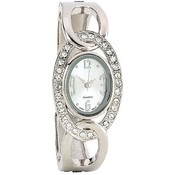 Navarre Ladies' Silver & Faux Diamond Quartz Watch