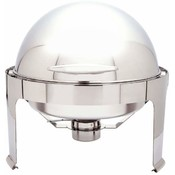 Heavy-Duty  S/S Round Chafing Dish with Roll Top