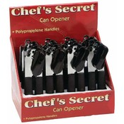 Chef's Secret 12pc Can Openers in Countertop Display Wholesale Bulk