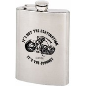 Maxam  8oz S/S Hip Flask It's the Journey