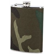 Maxam  8oz S/S Flask w/ Camouflage Wrap