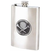 Maxam  8oz S/S Flask w/ Golf Emblem