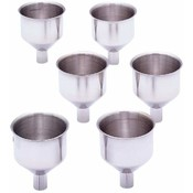 Maxam  6pc Large S/S Flask Funnel Set
