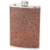 Maxam  8oz S/S Flask w/ Faux Ostrich Leather Wrap