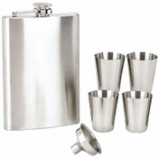 Maxam  6pc S/S Flask Set