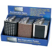 12pc 8oz Executive S/S Flasks-Countertop Display