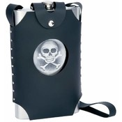 64oz S/S Flask with Skull & Cross Bones Emblem