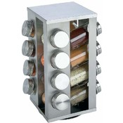 Chef Secret  16 Jar S/S Rotating Spice Rack