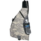 "19.5"" 600D Poly Digital Camo Sling Backpack"