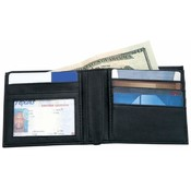 Men 's Solid Genuine Leather Bi-Fold Wallet